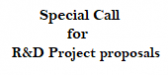 Special Call for R&D Project proposals